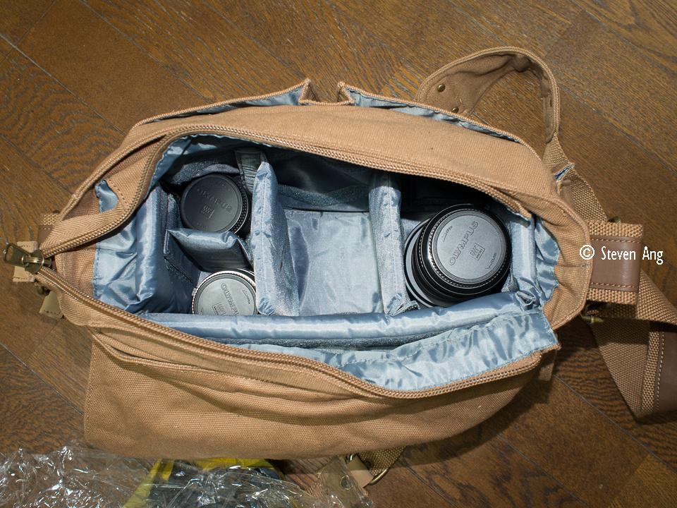 """BKK-3 Olympus """"Olympus Lens"""" m4/3 m43 bag """"camera bag"""""""